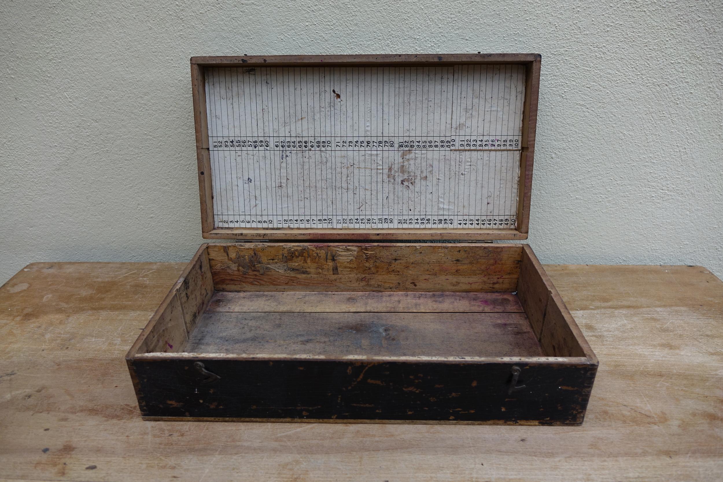 Vintage Wooden Suitcase £5