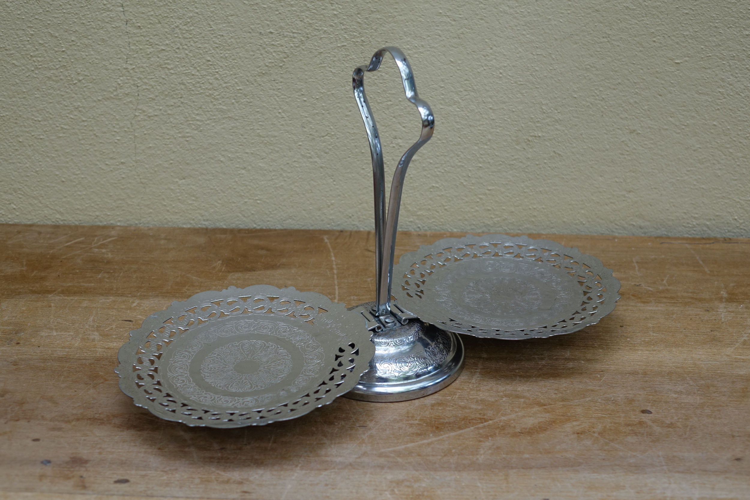 Silver Cake Stands £1.50