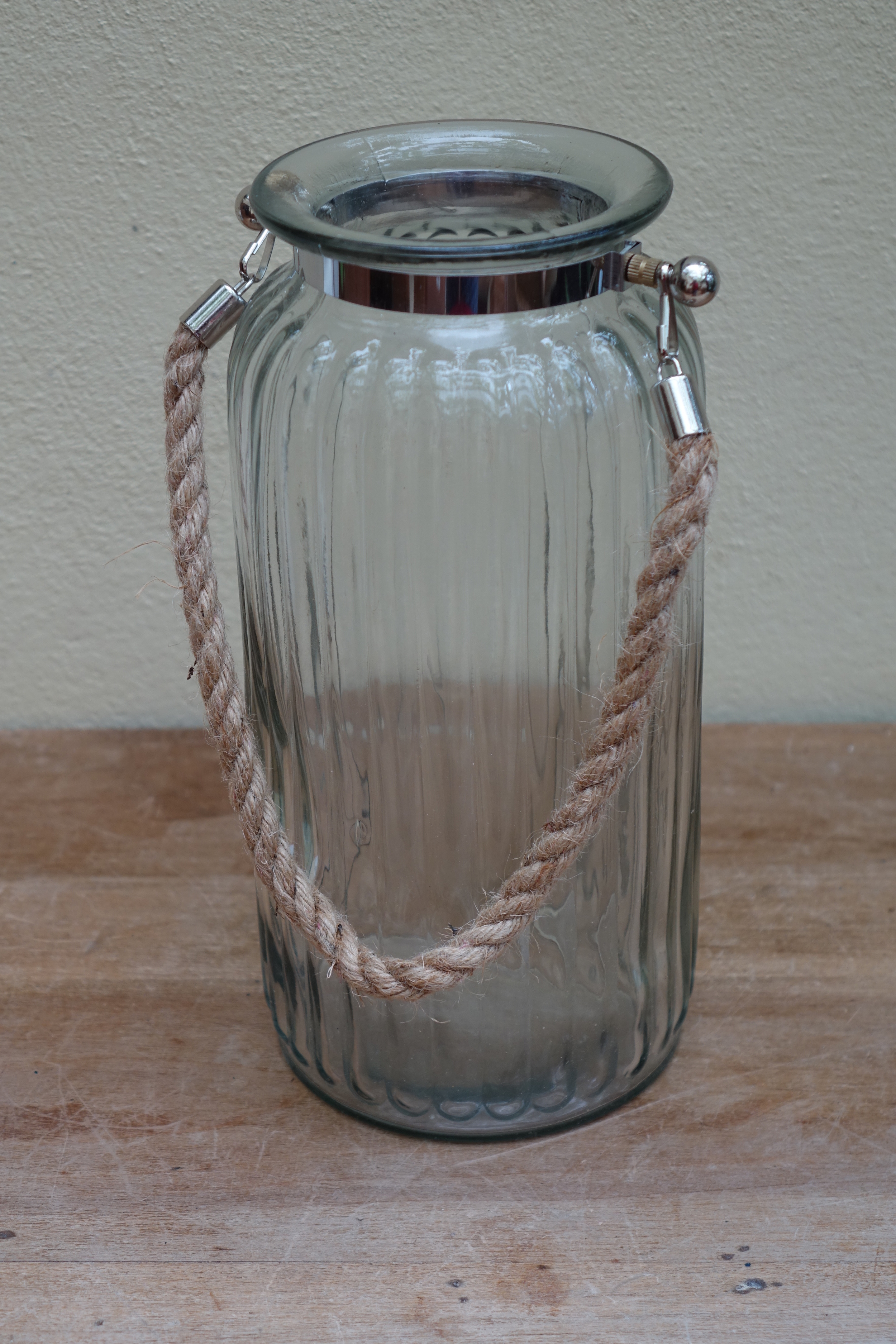 Large Ribbed Hurricane Lamp £4