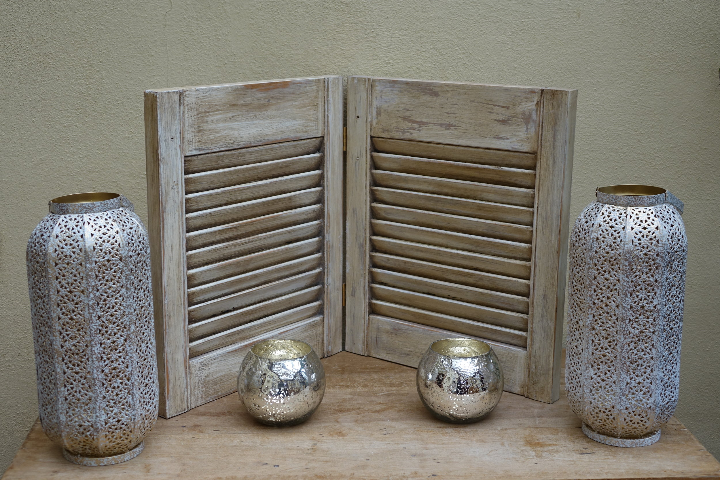 Small pair of cream shutters £10 - 2 available