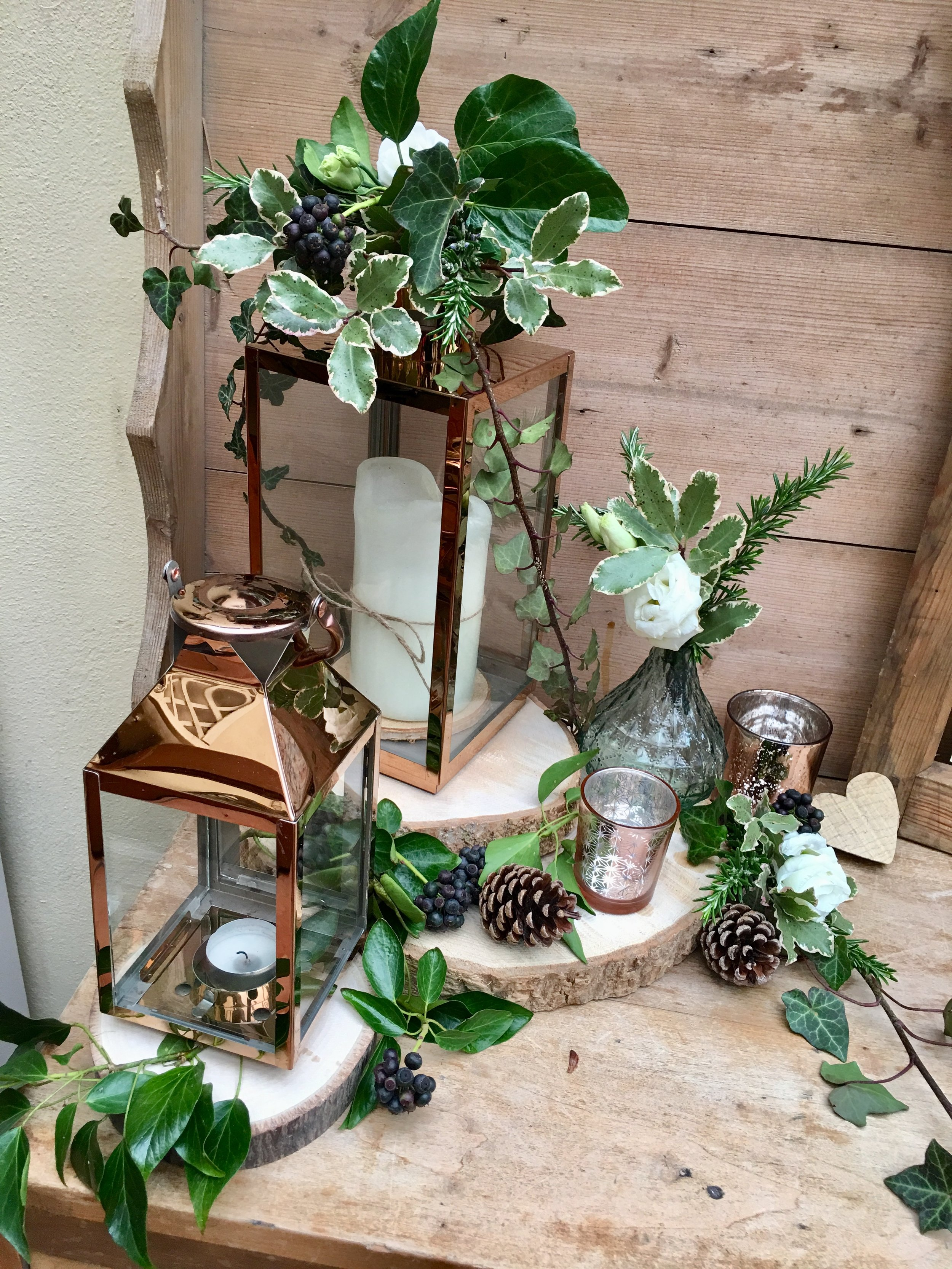 Copper Lanterns Small, Medium and Large -24 Total -  12 small and 12 medium & large