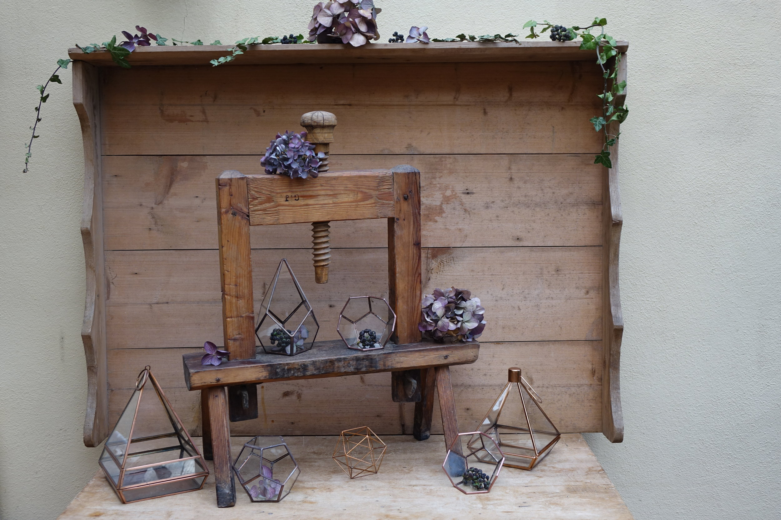 Copper Lanterns & Terrariums - from £3