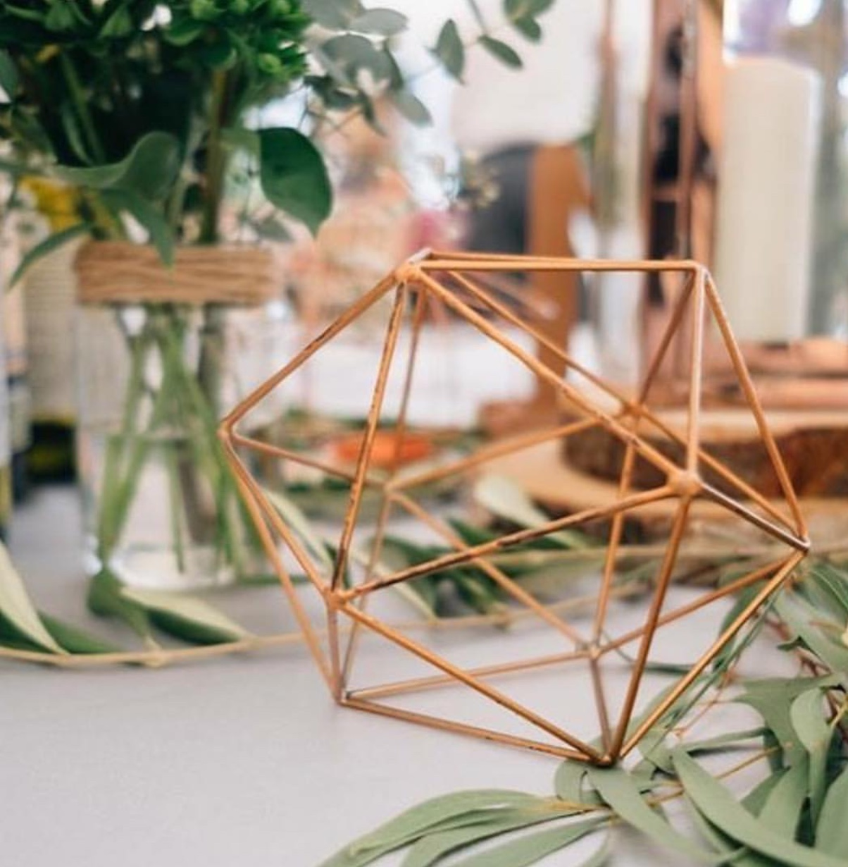 Copper Geometric Shapes