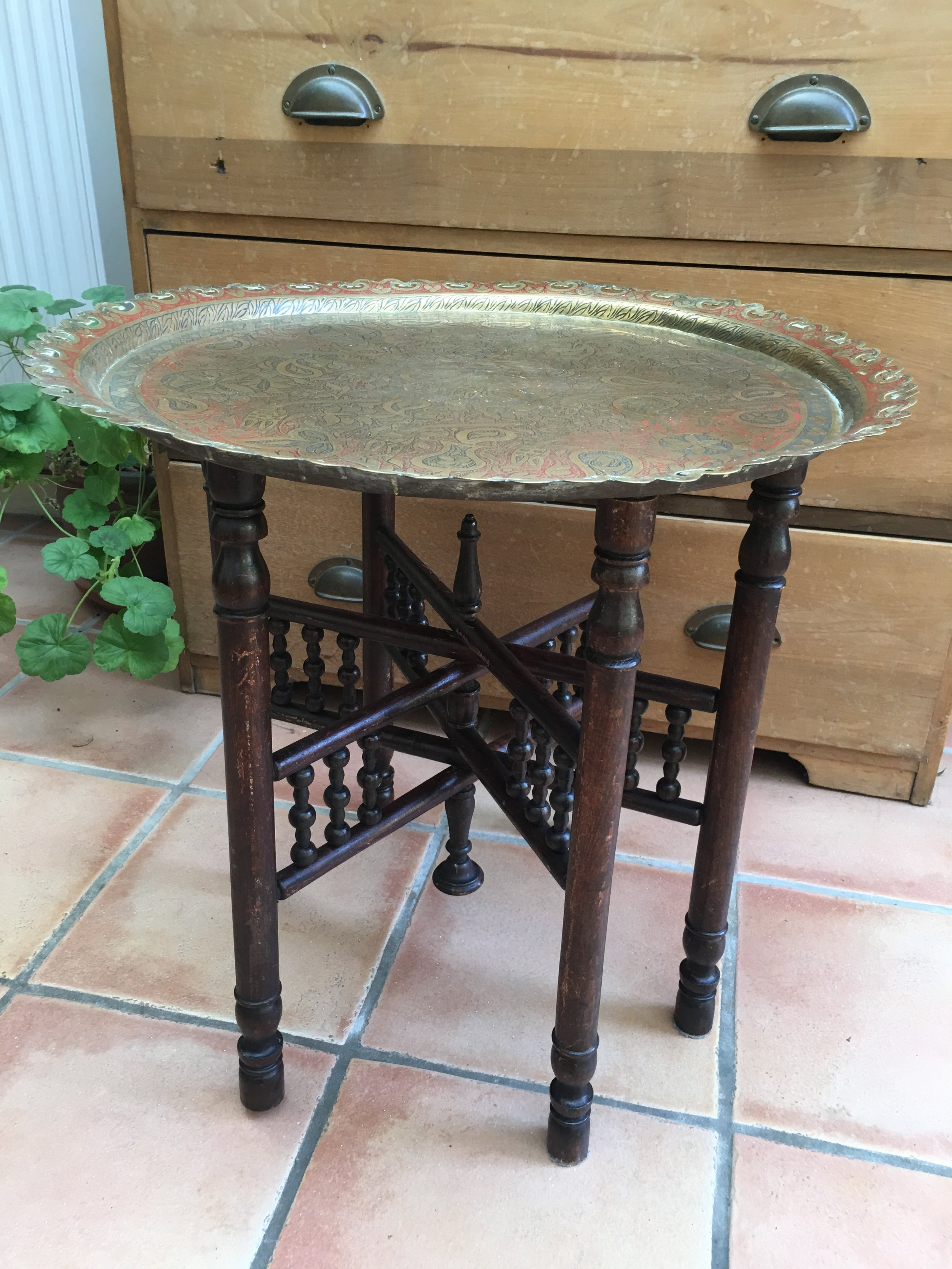Moroccan Brass Table £15