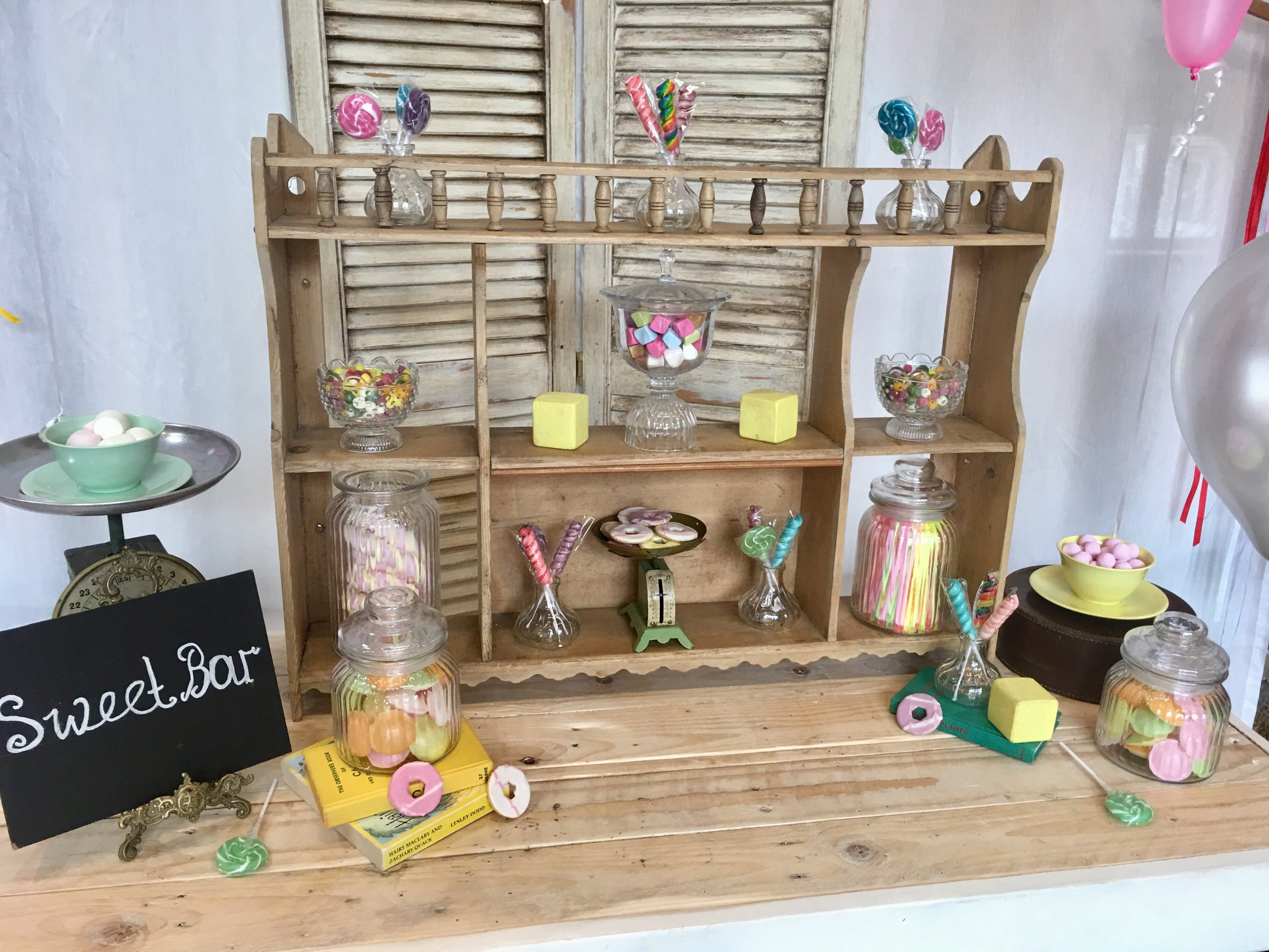 Shelving Unit £20 - jars & scales extra