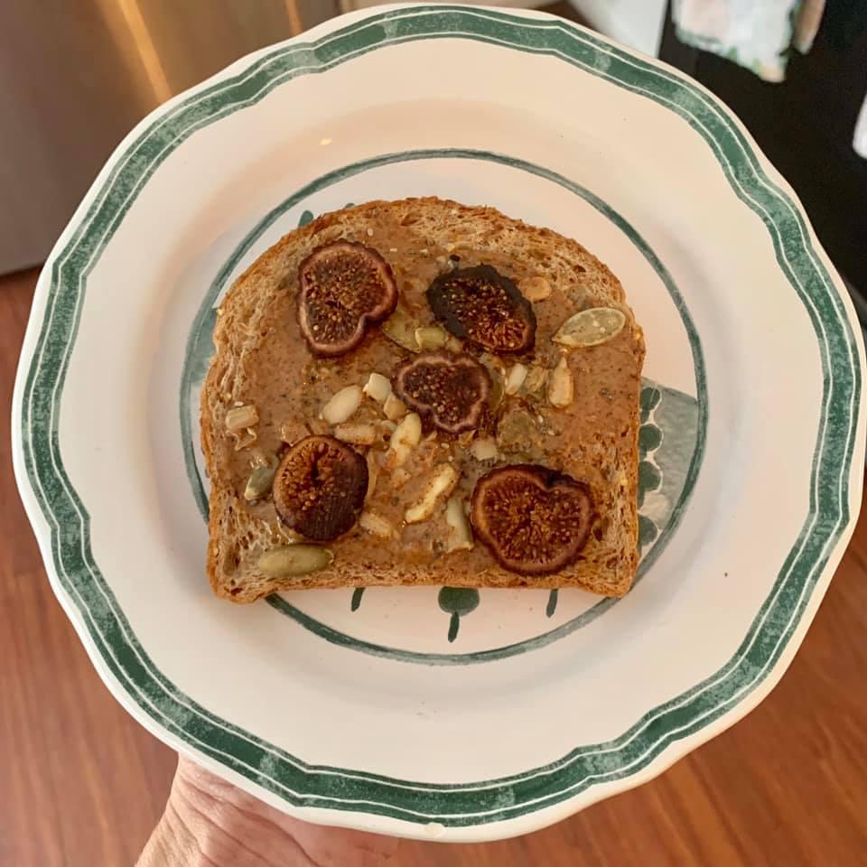 Ezekiel Bread with Almond Butter & Figs