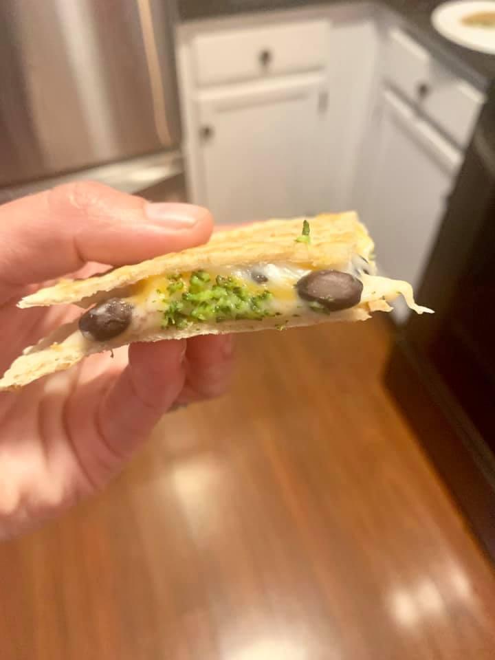 Vegan Black Bean & Broccoli Quesadillas
