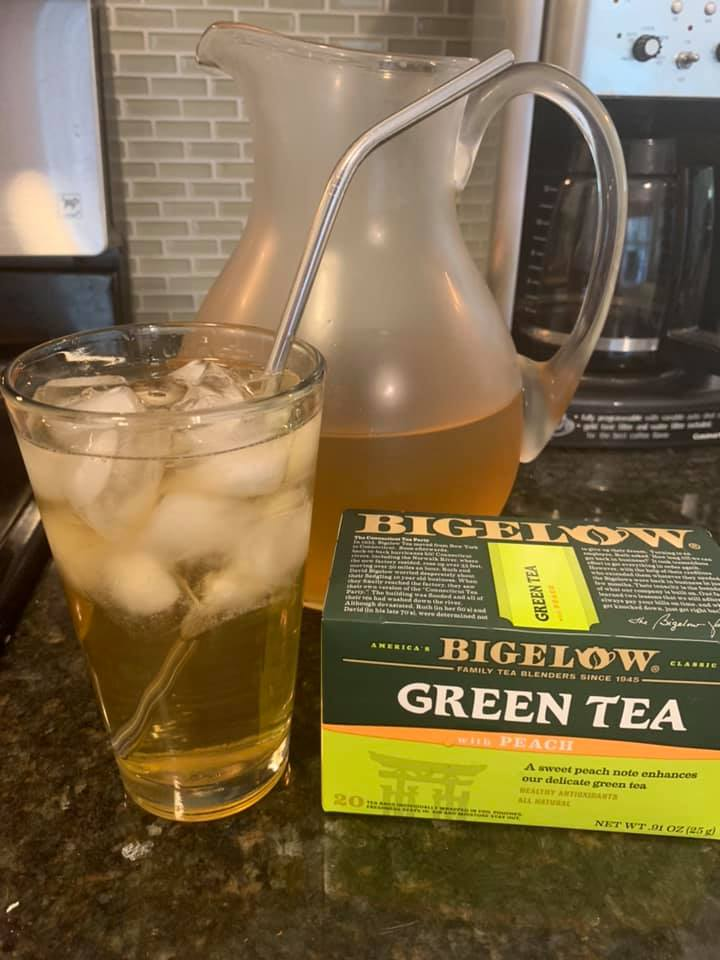 Iced Peach Green Tea
