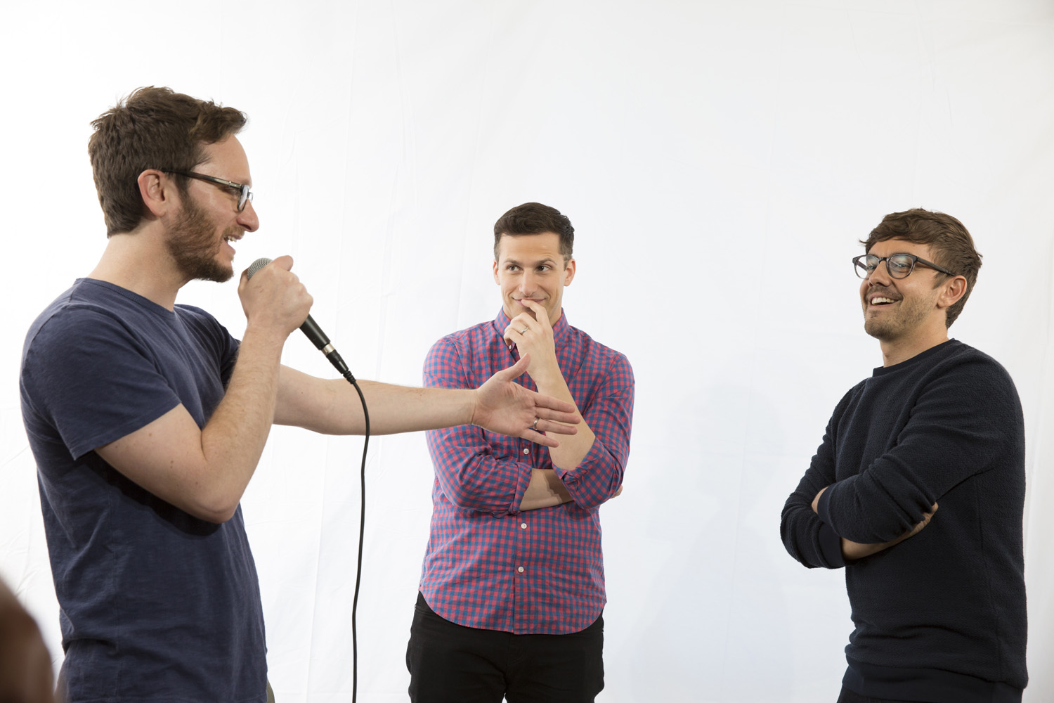 The Lonely Island Junket - Andy Samberg - for Vanity Fair Video