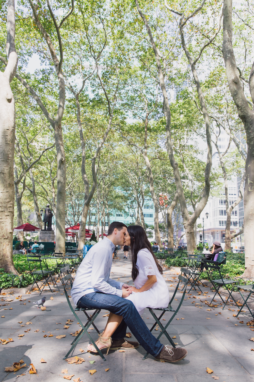 Engagement Photo in Bryant Park