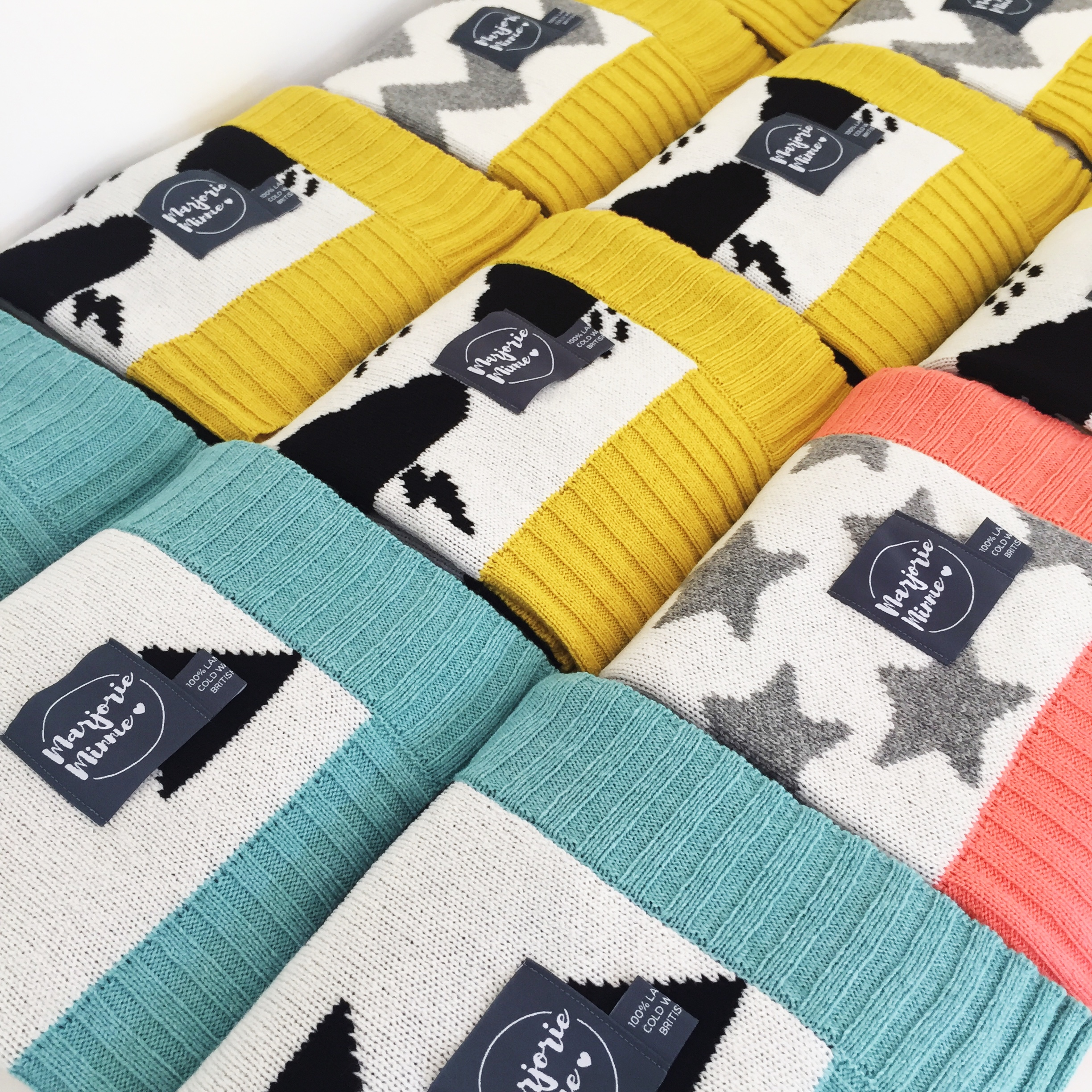 Marjorie Minnie blankets are all designed and hand finished in our home studio in Bath. Photo: Gaby Durnford