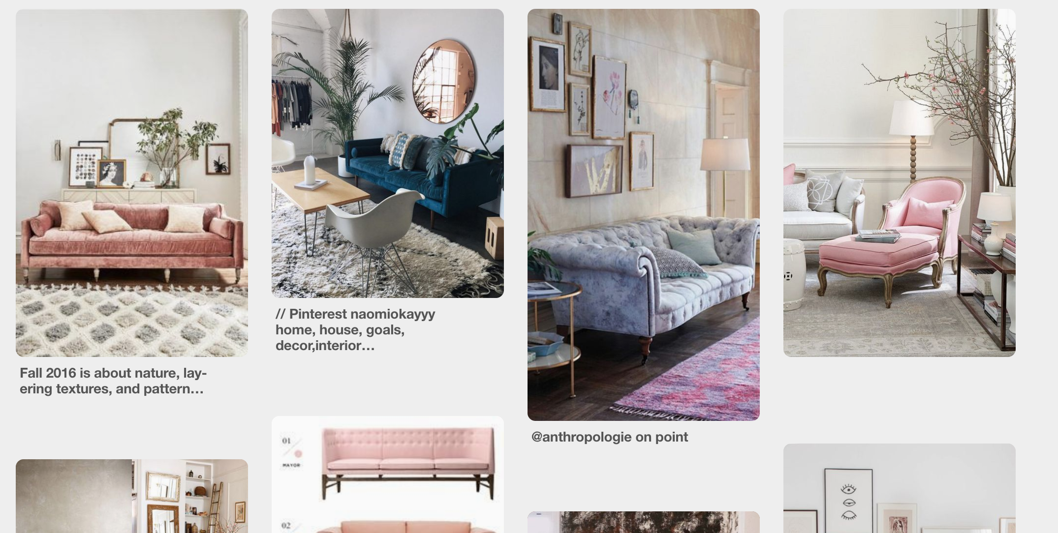 Rounded corners ? So much text ? Different sizes ? Impossible to actually find the image source ? Millennial pink sofas ? GOD HELP ME