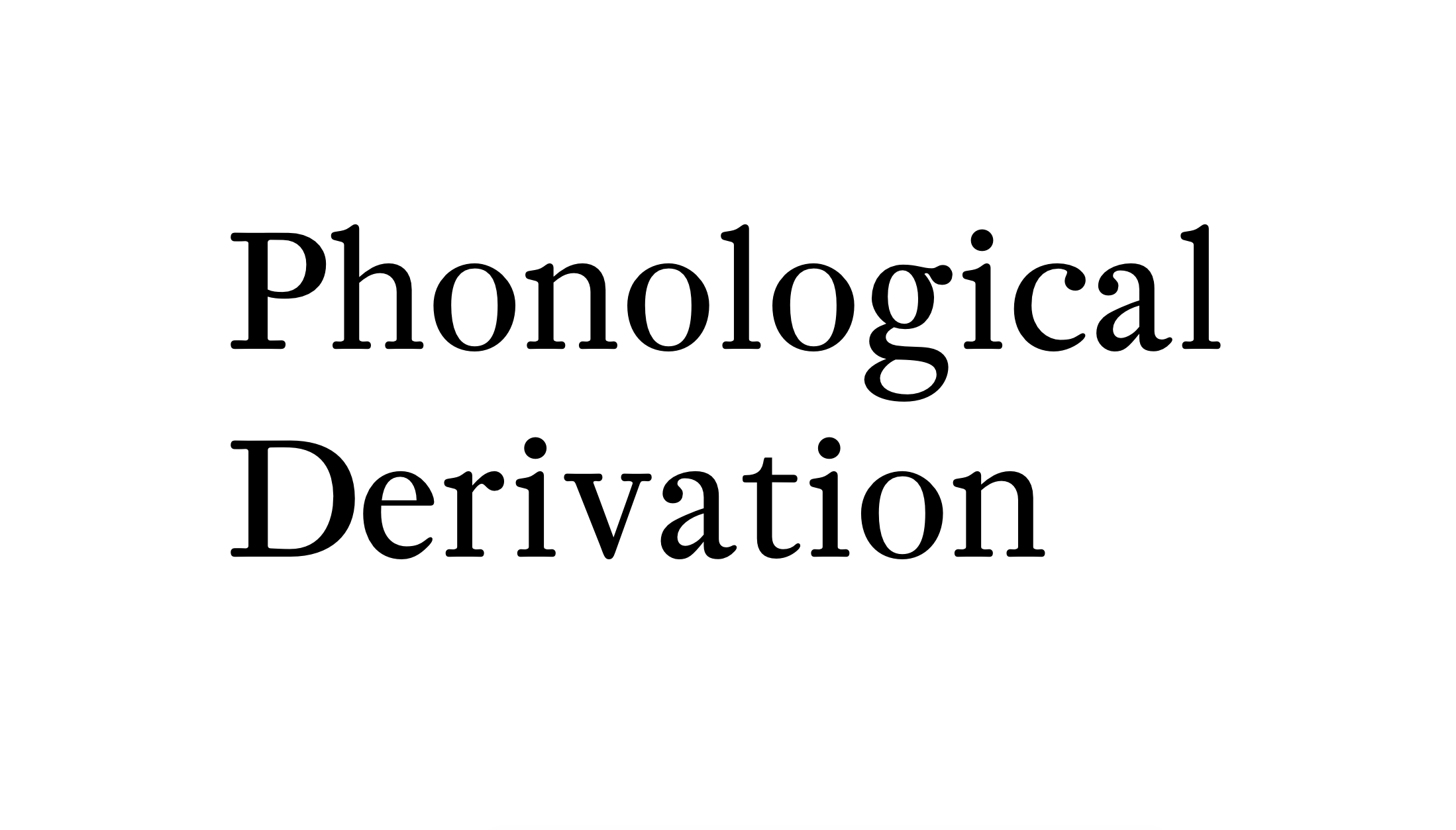 "Do the words ""Phonological derivation"" spark any joy when I see them ? No. Does knowing that I drew those letters myself spark any joy? YES. The typeface is called Aligre and I have yet to publish it on the website !"