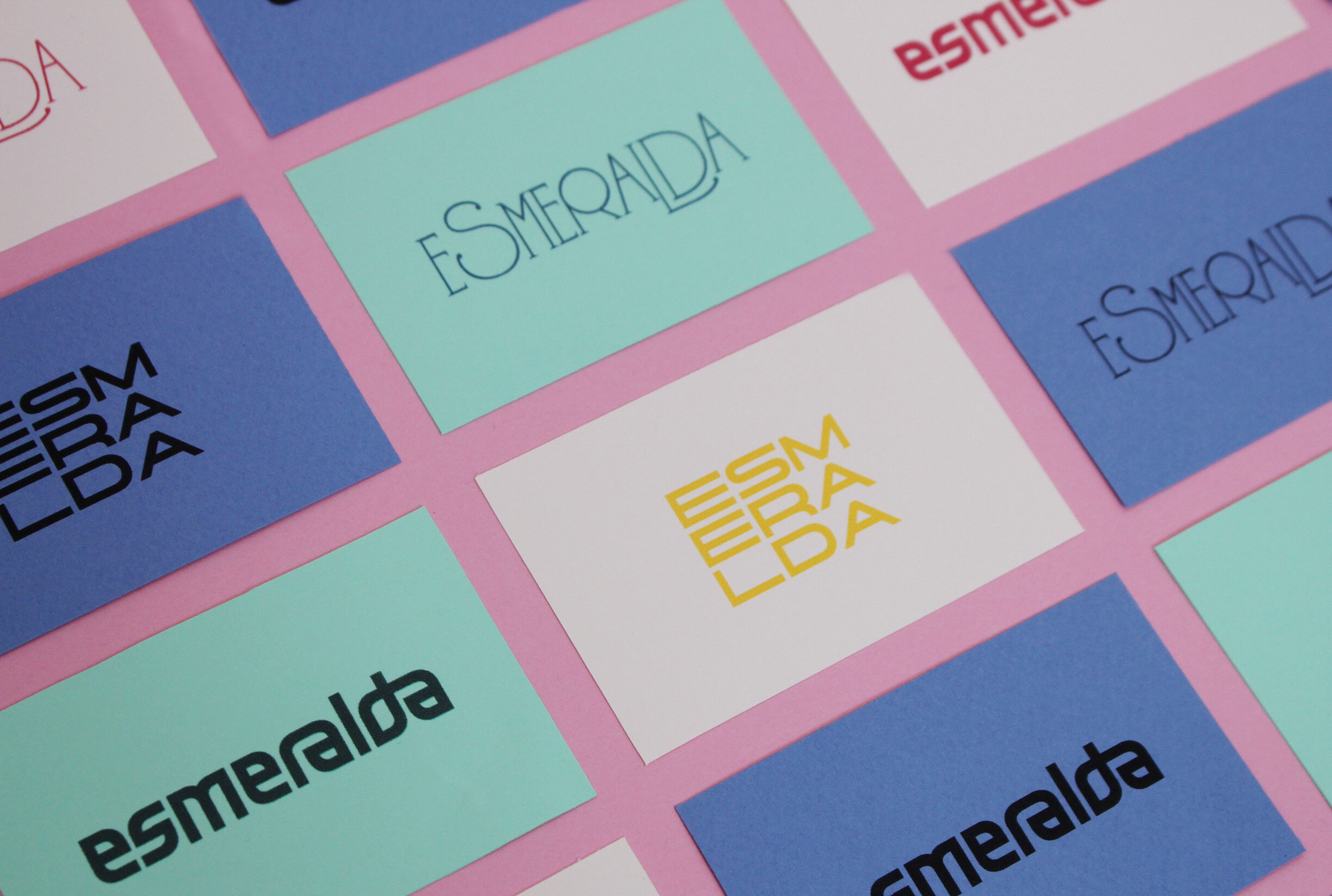 Esmeralda Lettering ♣︎  A project with three different lettering interpretations of the same word.