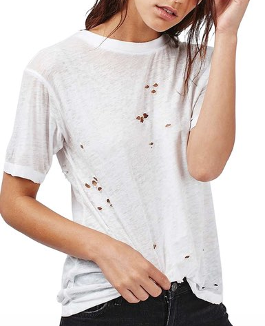 TOPSHOP DISTRESSED T