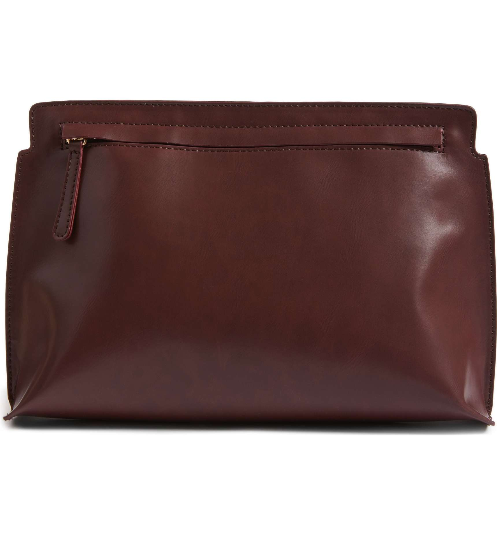 bp faux leather clutch