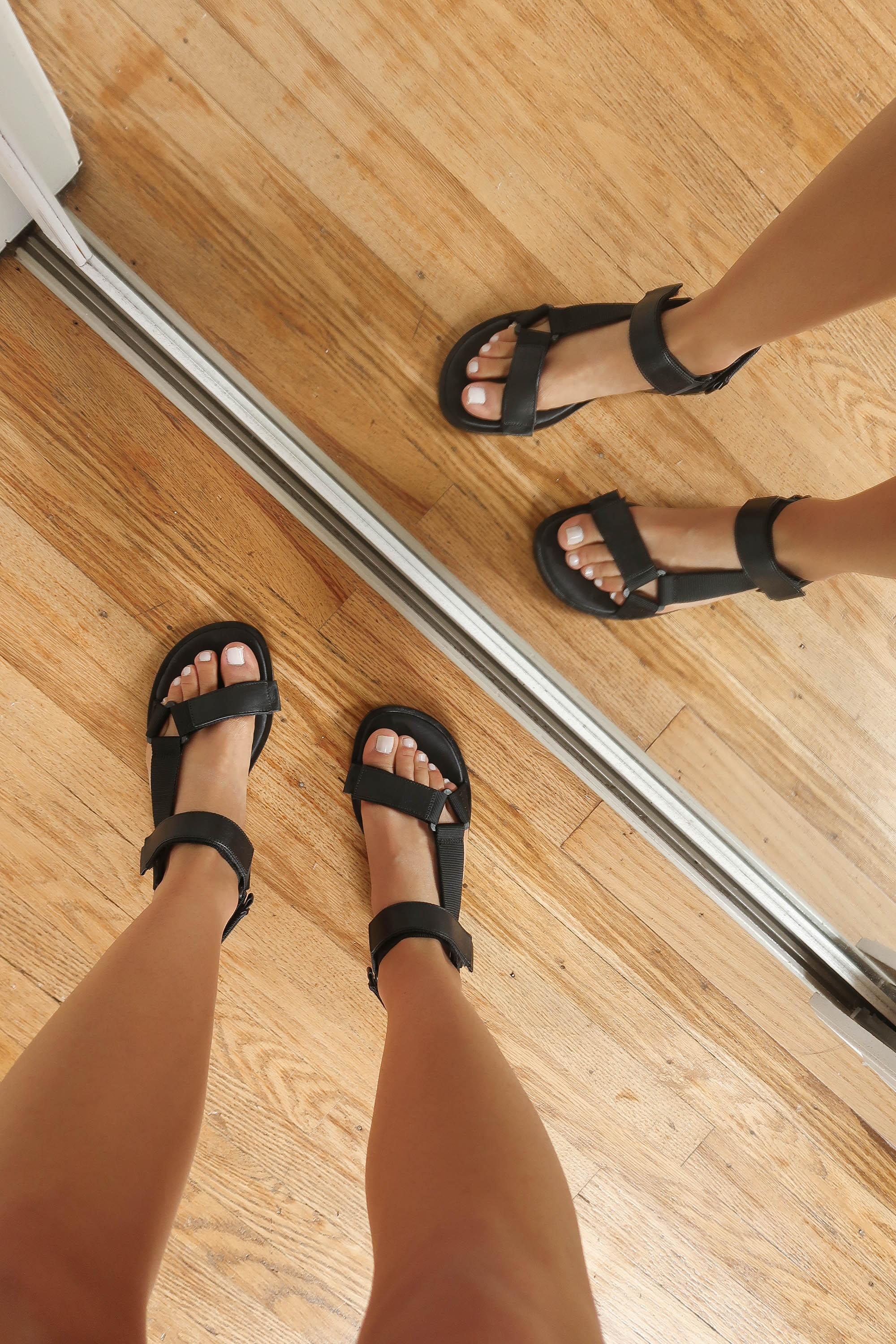 velcro camp sandals - practical AND on trend lol