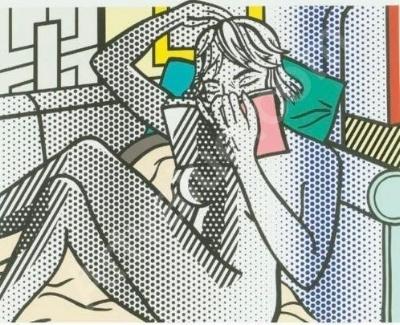 Image: Roy Lichtenstein,  Nude Reading , 1994.