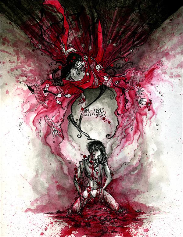 Sleepsong 2007 ink, watercolor