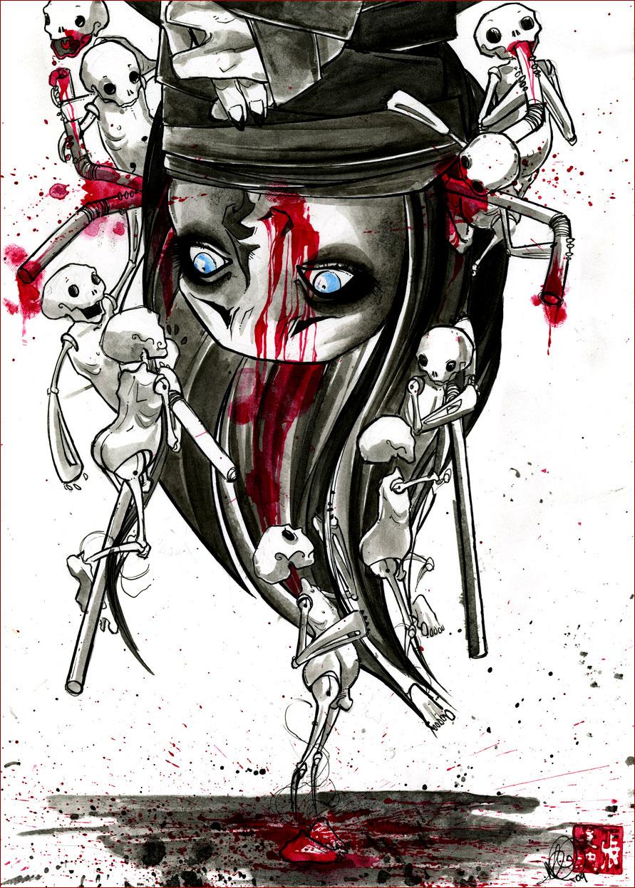 fischer's revenge 2009 ink, watercolor