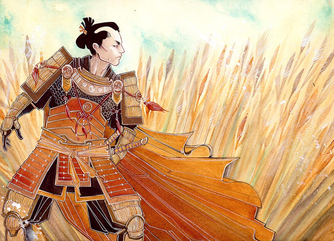 the lion \\ 10x14 \\ watercolor, gouache, ink