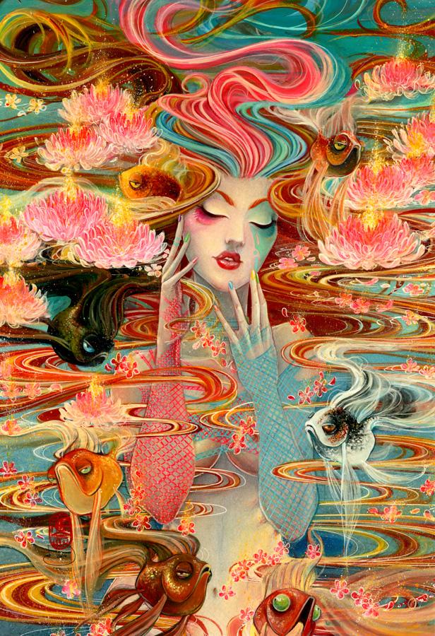 Reverie \\ 13x19 \\watercolor, gouache, acrylic