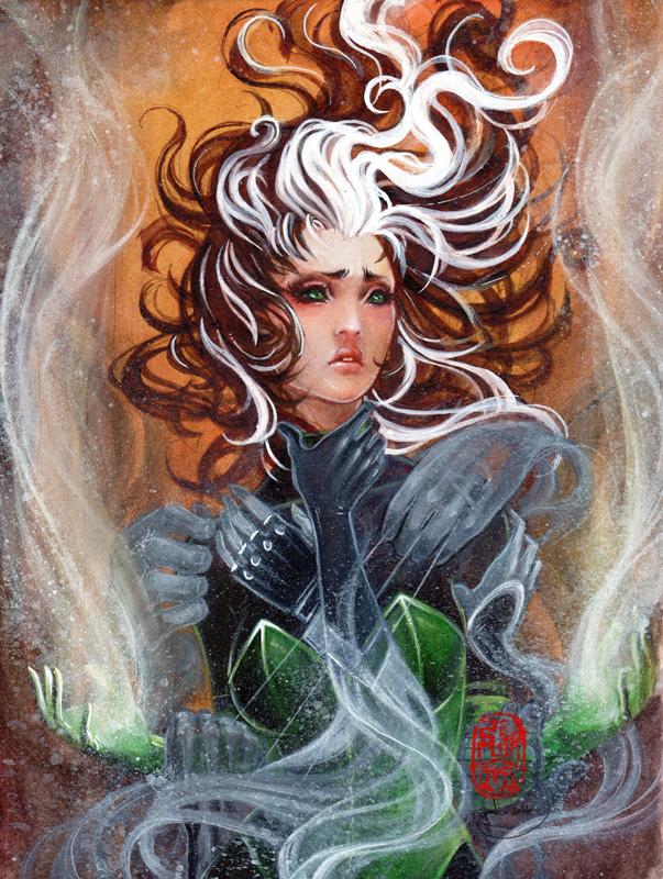 Haunted \\ 8x10 \\watercolor, gouache, acrylic