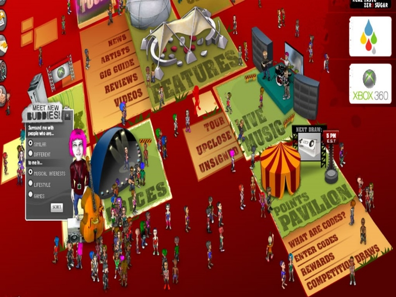 A screen shot of the Australian Coke Live website, 2006.