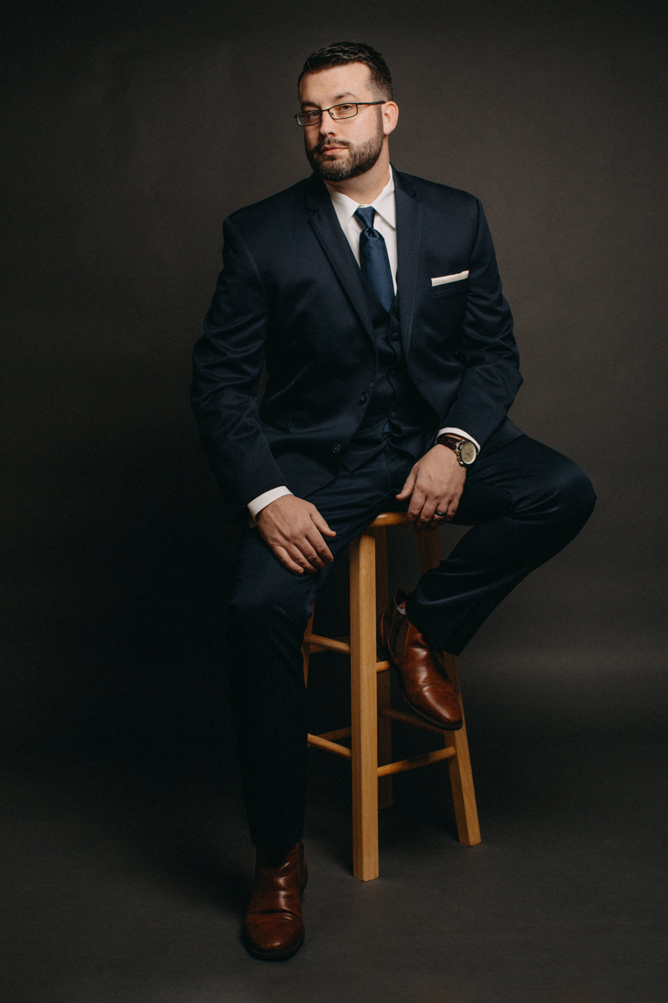 portrait in suit in studio