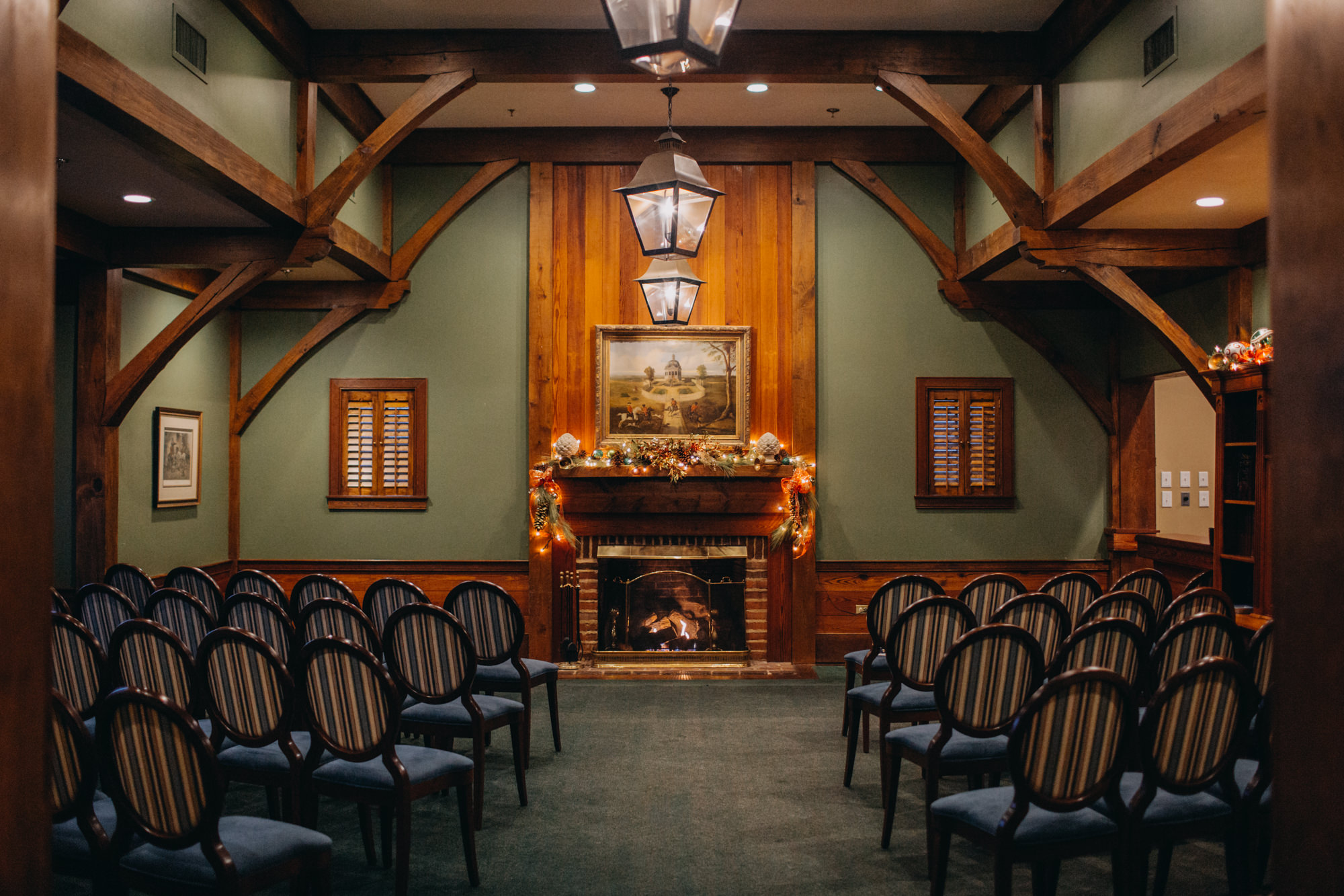 Ceremony space at Boonsboro Country Club