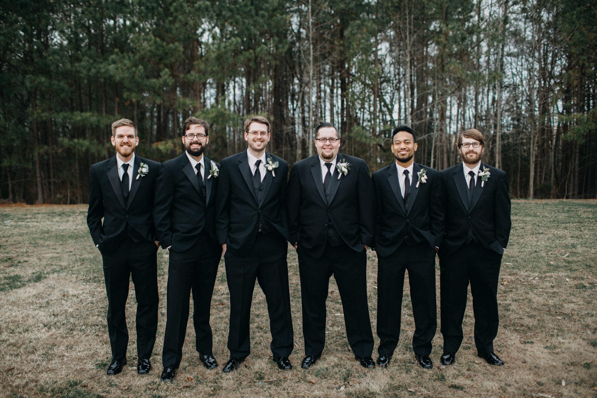groomsmen at Richmond wedding