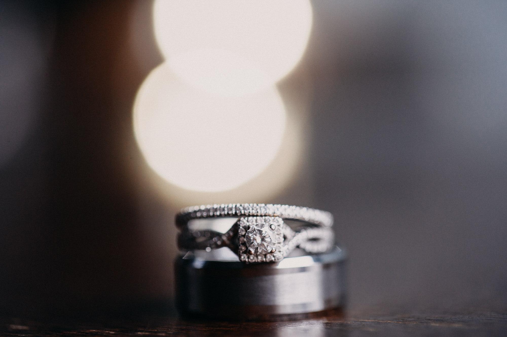 wedding ring at Midlothian wedding