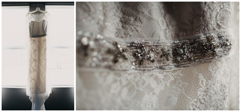 wedding dress at richmond wedding