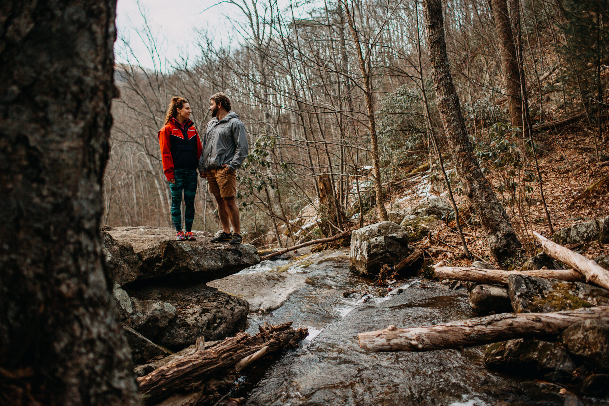 outdoors engagement with river