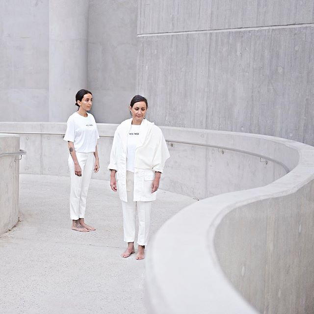 Minimalistic Yes Nigel location shoot. Great to be working with a mother, daughter team.