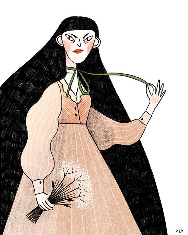 """#wip (I think it needs a background). Has anyone else been haunted since childhood after reading """"The Green Ribbon""""? #girlwiththegreenribbon #thegreenribbon #horror #childrenshorror"""