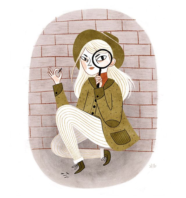 """""""Was it cat hair or werewolf hair in that alley? Find out on the next episode of Ms. Finchley's Marvelous Mysteries"""" #detective #mystery #kidlitart"""