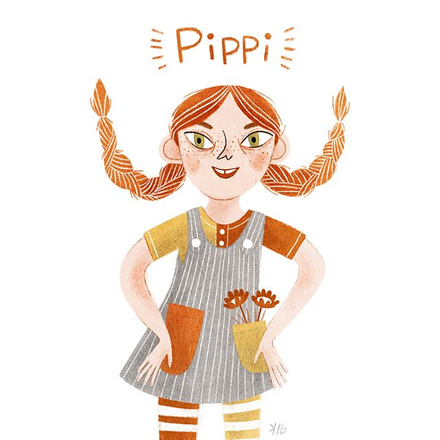 """He's the strongest man in the world.' . 'Man, yes,' said Pippi, 'but I am the strongest girl in the world, remember that."" . . . #procreate #procreateart #ipadproart #pippilongstocking #art #artist #illustration #instaart #instaartist #drawing #artoftheday #artistsoninstagram #kelseybuzzell  #eugeneoregon #womenartists #kidlit #kidlitart #childrensillustration #illustrator  #characterillustration #kidsillustration #visiblewomen #moreillustrations #womenofillustration #womenwhodraw #best_of_illustrations #children_illustration #illustrationoftheday #illustrationdaily #illustrationartist"