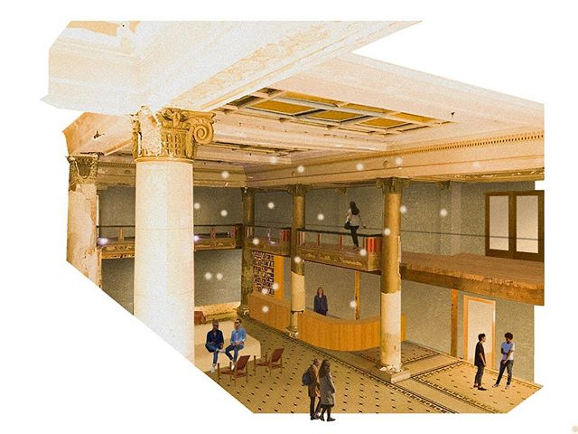 Post-Digital Collage #11 | Lobby of the Hotel Astoria . . . #design #interiordesignstudent #architecturestudent #rendering #vignette #digitalvignette #collage #digitalcollage #architecture #modernism #modern #modernist #oregondesign #interiors #hospitalitydesign #interiordesign #moderndesign#postdigital #modernarchitecture #historicpreservation#astoria #astoriaoregon #johnjacobastorhotel #hotelastoria #theruinsastoria @theruinsastoria