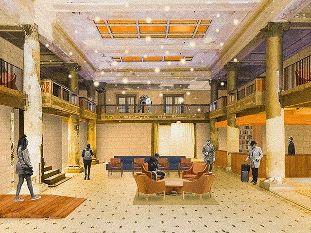 Post-Digital Collage #15 | A refining of the last round of collages. . . . #design #interiordesignstudent #architecturestudent #rendering #vignette #digitalvignette #collage #digitalcollage #architecture #modernism #modern #modernist #oregondesign #interiors #hospitalitydesign #interiordesign #moderndesign#postdigital #modernarchitecture #historicpreservation#astoria #astoriaoregon #johnjacobastorhotel #hotelastoria #theruinsastoria @theruinsastoria