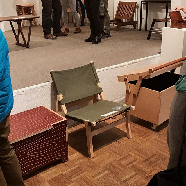 Danish Chair on display at the Maude Kerns Art Center for the Oregon Made for Interiors biennial. . . . @maudekernseugene #design #interiordesignstudent #architecturestudent #modernism #modern #modernist #oregondesign #interiors #interiordesign #moderndesign#chair #chairdesign #furniture #furnituredesign #maple #canvas