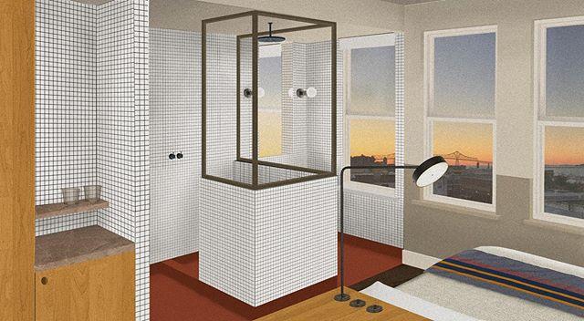 Post-Digital Collage #22 | Room in the Hotel Astoria | My last round of collages for college. . . . #design #interiordesignstudent #architecturestudent #rendering #vignette #digitalvignette #collage #digitalcollage #architecture #modernism #modern #modernist #oregondesign #interiors #hospitalitydesign #hoteldesign #interiordesign #moderndesign#hotelroomdesign #postdigital #modernarchitecture #historicpreservation#astoria #astoriaoregon #johnjacobastorhotel #hotelastoria #theruinsastoria #uoiarch @theruinsastoria