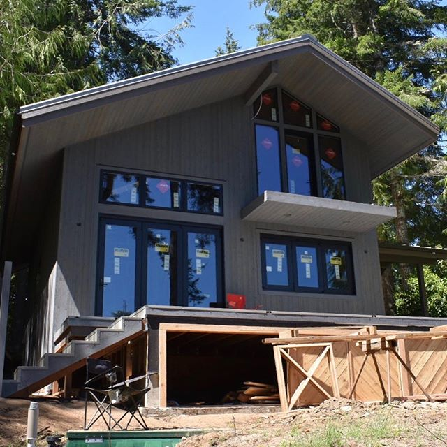 So excited to see the progress on the Mercer Lake Cabin!  #pnwmodern #womenarchitects #design #oregoncoast