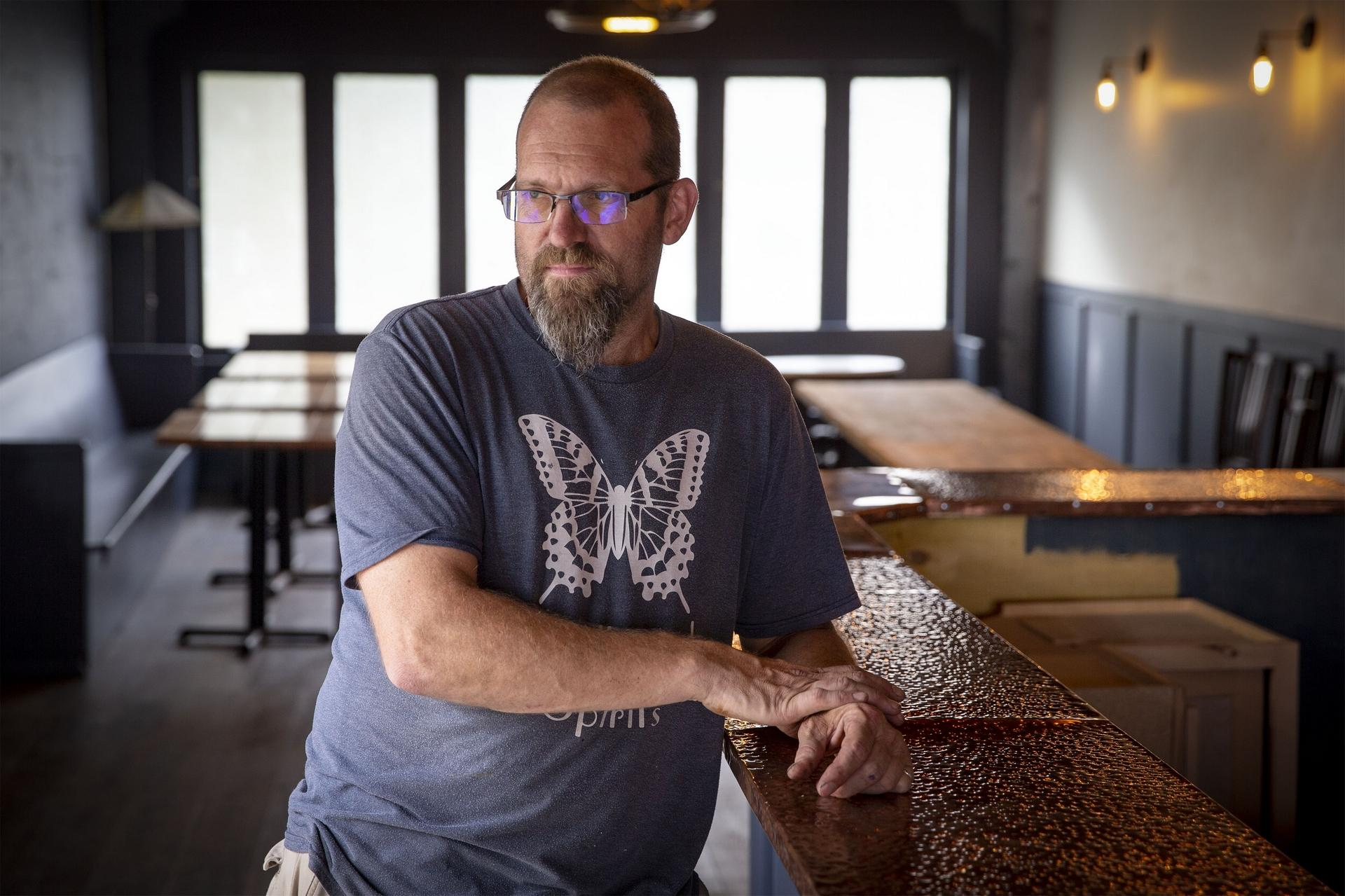 Swallowtail Spirits owner Kevin Barrett has been working on getting the Springfield bar built out for the better part of a year.