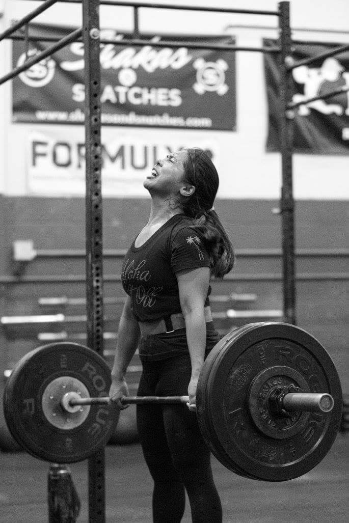 Image provided by Priscilla Navares from her first Crossfit Open in 2016