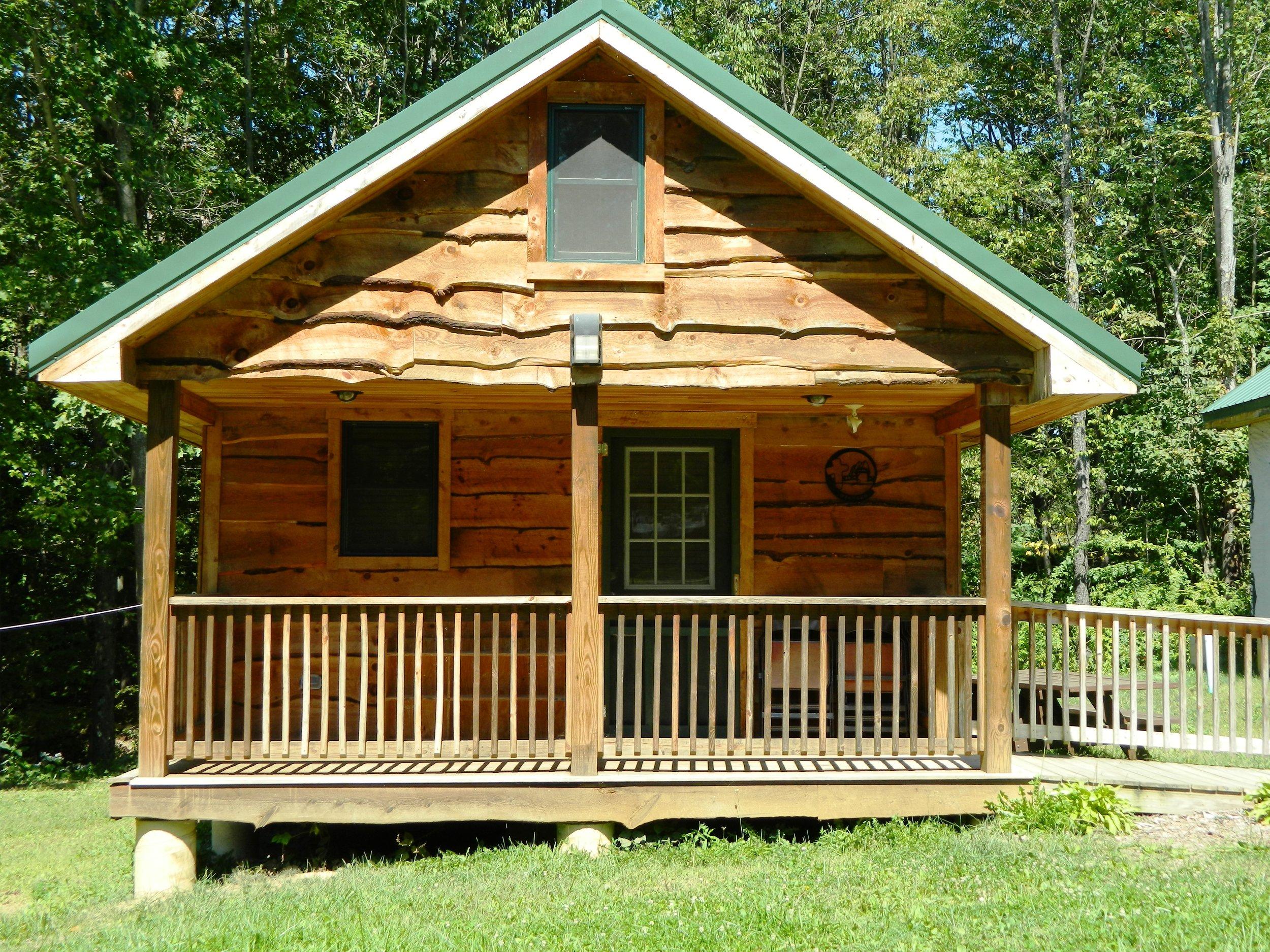 Hemlock Cabin Front