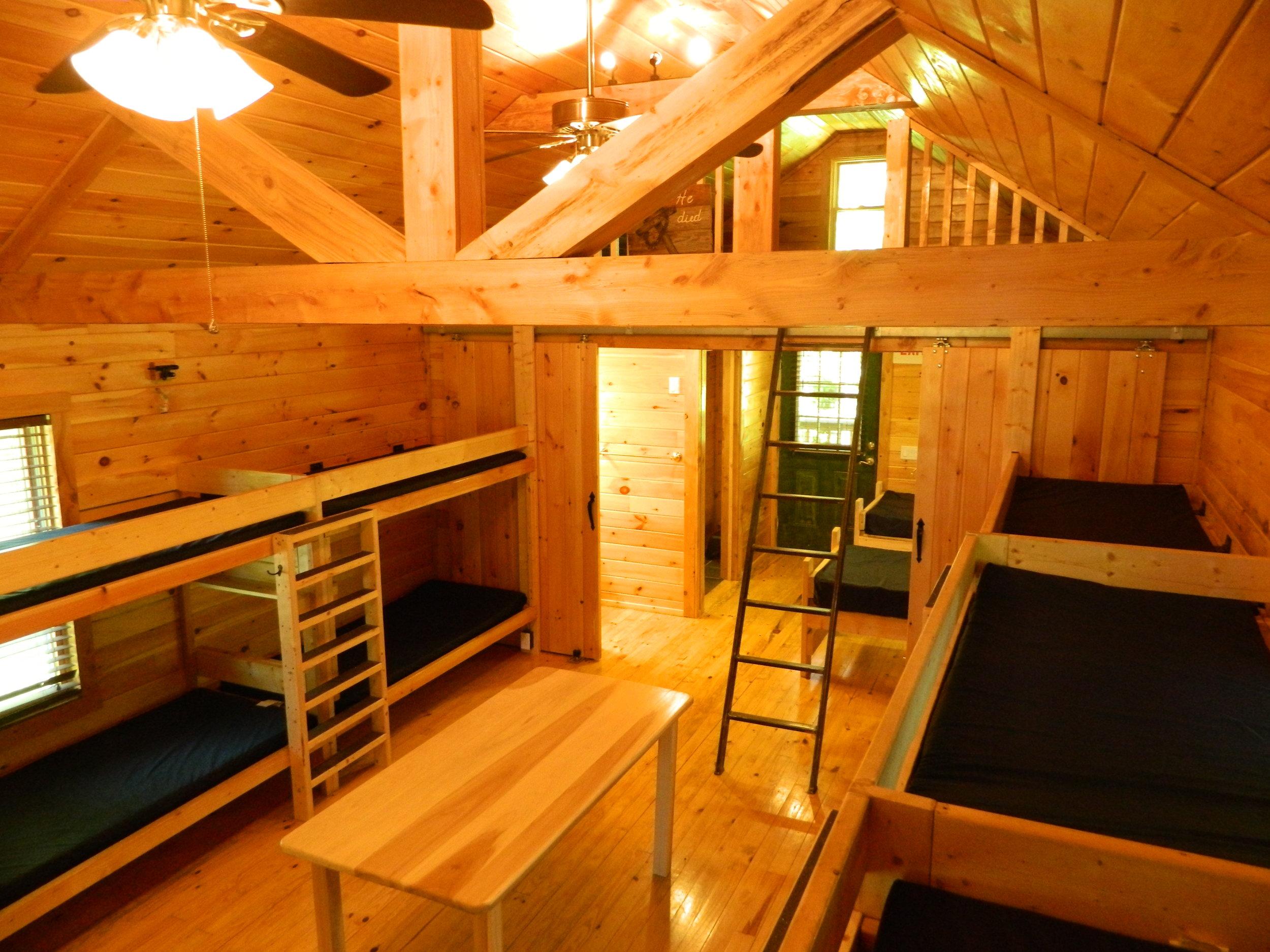 Inside View of Hemlock Cabin (rear)