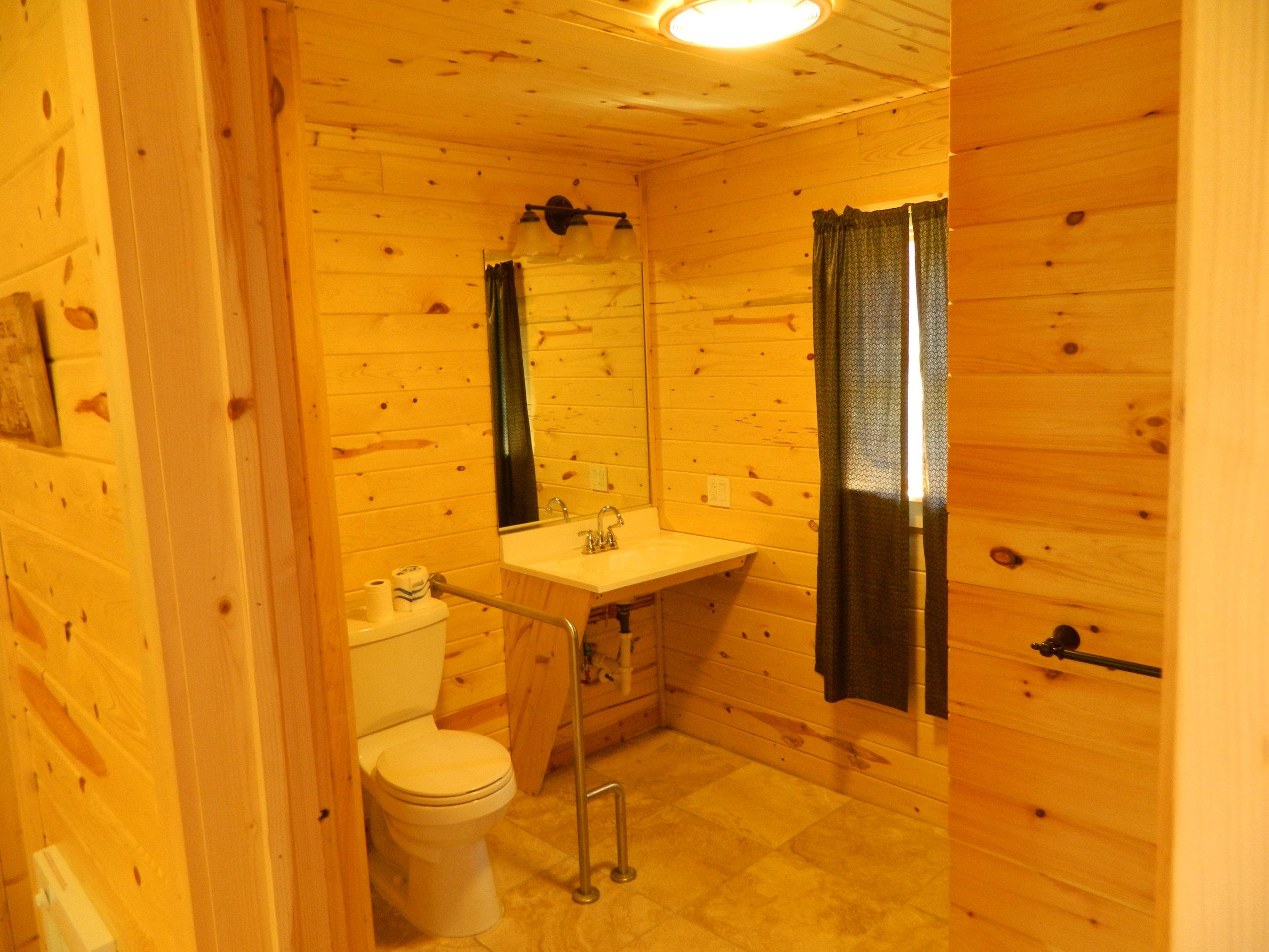 Bathroom of Hemlock Cabin with Rear Kitchen
