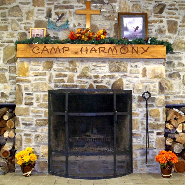 Stone Fireplace in Dining Hall