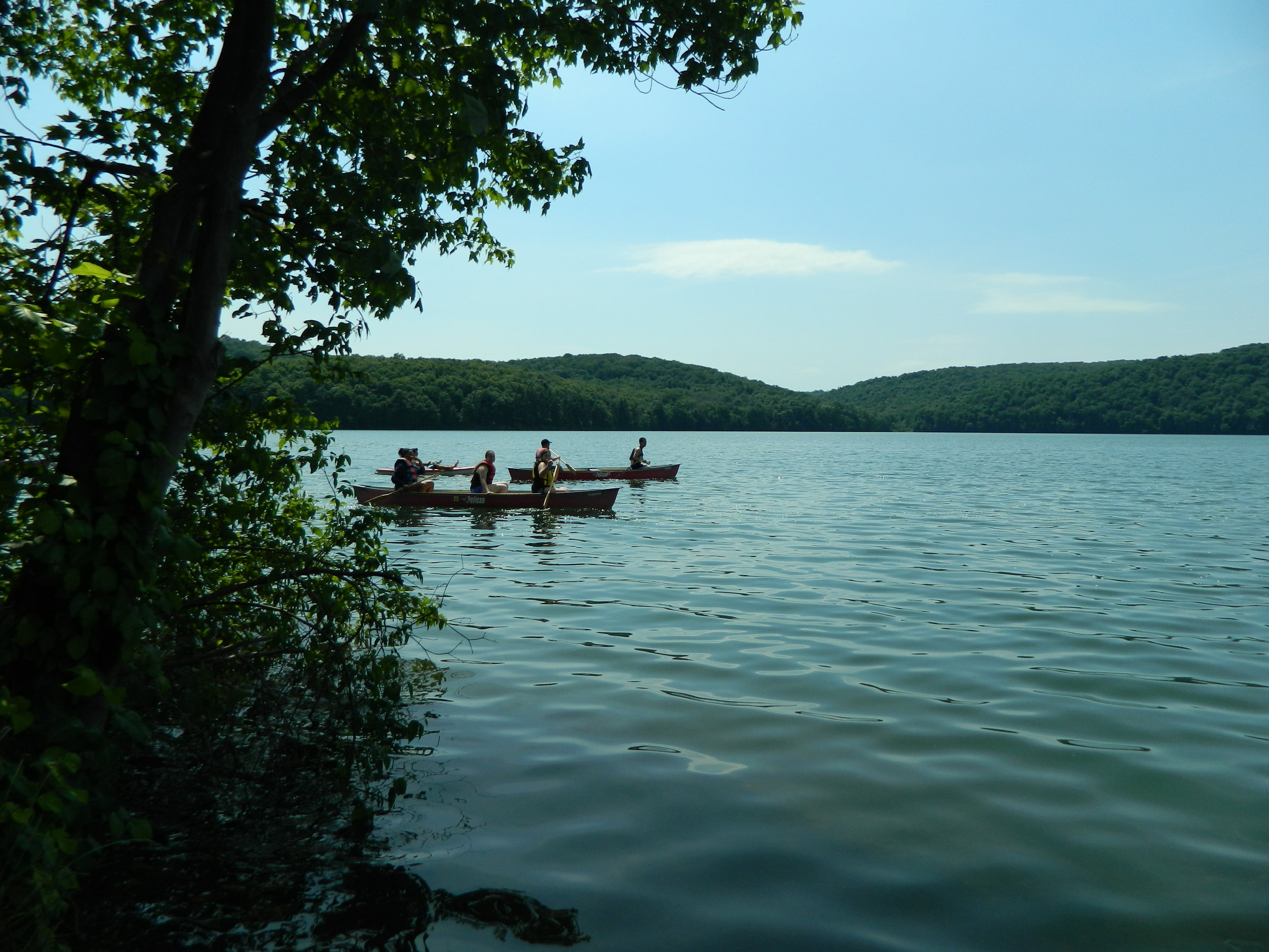 Canoeing at the Quemahoning